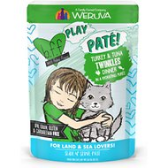 BFF Play Pate Lovers Turkey & Tuna Twinkles Wet Cat Food, 3-oz pouch, pack of 12