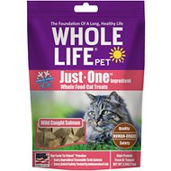Whole Life Just One Ingredient Pure Salmon Fillet Grain-Free Freeze-Dried Cat Treats, 2.5-oz bag