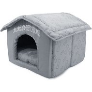 Best Pet Supplies Home Sweet Home Plush Covered Cat & Dog Bed