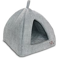Best Pet Supplies Linen Tent Covered Cat & Dog Bed