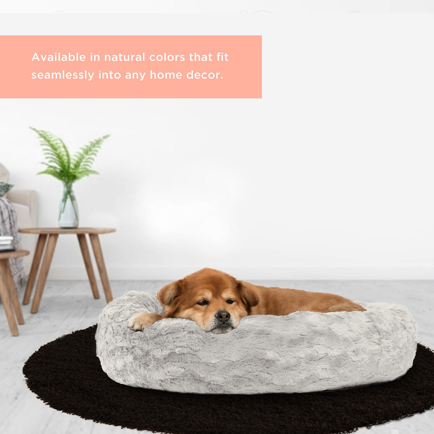 Best Friends by Sheri Lux Fur Donut Dog Bed