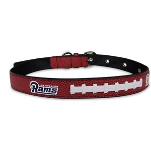 Pets First NFL Signature Pro Dog Collar, Brown, Los Angeles Rams, Medium; Show your love for the game with Pets First's NFL Signature Pro Dog Collar! Nothing beats cheering on your favorite team with your trusty canine companion by your side. This high-quality premium collar is perfect for sitting on the couch and watching the game, taking your pup tail-gating or just on everyday adventures. The 6 adjustment holes makes it easy to find a comfortable fit, the metal buckle ensures maximum strength while the metal D-ring allows for easy leash attachment! This collar is the only genuine signature pro collar officially licensed by the NFL!