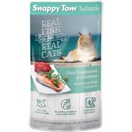 Snappy Tom Naturals Tuna Temptations with Salmon Cat Food Pouches, 3.5-oz, case of 12