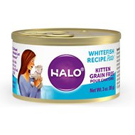 Halo Whitefish Recipe Pate Grain-Free Canned Kitten Food, 3-oz, case of 12
