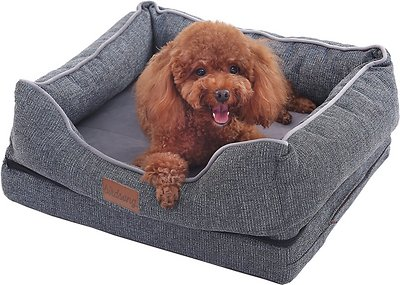 PLS Birdsong Fusion Orthopedic Pillow Dog Bed w/Removable Cover