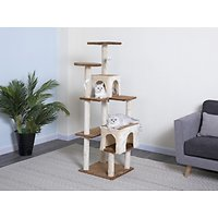 Deals on Go Pet Club 61-in Faux Fur Cat Tree & Condo