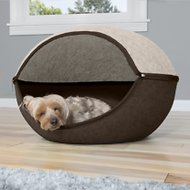 FurHaven Two-Color Round Felt Cubby Cat Bed, Large