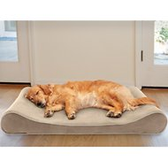 FurHaven Microvelvet Luxe Lounger Memory Foam Dog Bed w/Removable Cover