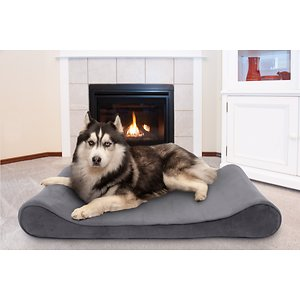 FurHaven Microvelvet Luxe Lounger Cooling Gel Dog Bed