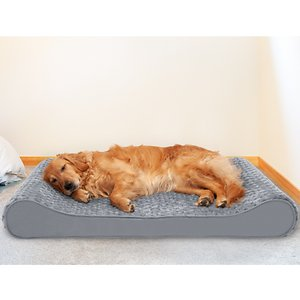 FurHaven Ultra Plush Luxe Lounger Cooling Gel Dog Bed