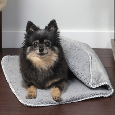 FurHaven Snuggly Warm Faux Lambswool & Terry Dog & Cat Throw Blanket