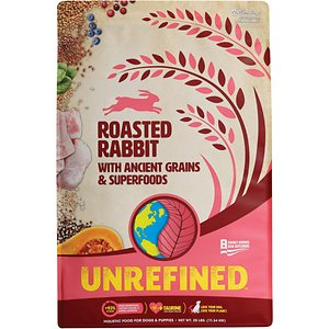 Earthborn Holistic Unrefined Roasted Rabbit with Ancient Grains & Superfoods Dry Dog Food, 25-lb bag