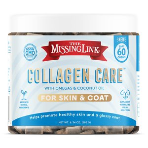 The Missing Link Collagen Care Skin & Coat Soft Chews Dog Supplement, 60 count