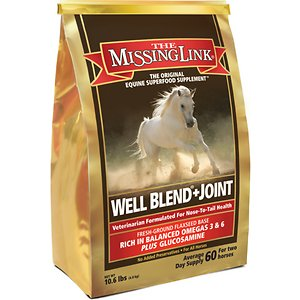 The Missing Link Well Blend + Joint Powder Horse Supplement, 10.6-lb bag