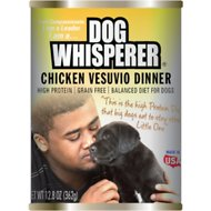Dog Whisperer Chicken Vesuvio Dinner Canned Dog Food, 12.8-oz can, case of 12