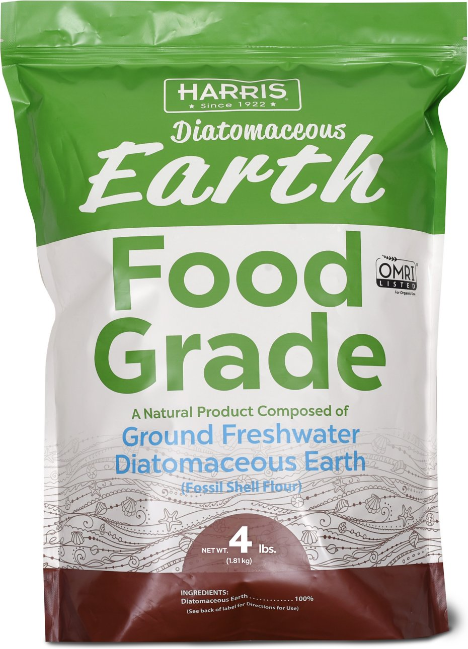 Harris Diatomaceous Earth Food Grade Ground Freshwater Powder Animal Supplement 4 Lb Bag Chewy Com