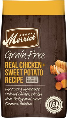 Merrick Real Chicken + Sweet Potato Recipe Grain-Free Adult Dry Dog Food