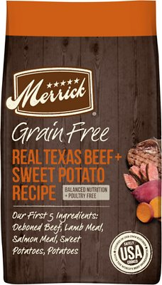 7. Merrick Grain-Free Texas Beef & Sweet Potato Recipe Dry Dog Food