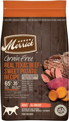 1. Merrick Grain-Free Texas Beef & Sweet Potato Recipe