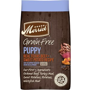Merrick Grain-Free Real Texas Beef + Sweet Potato Puppy Food