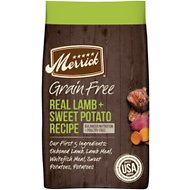 Merrick Grain Free Dry Dog Food Real Lamb & Sweet Potato Recipe
