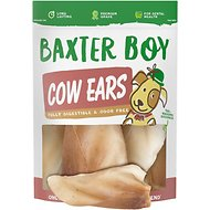 Baxter Boy Natural Cow Ears Dog Treats, 15 count