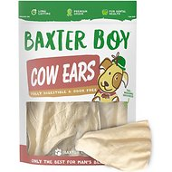 Baxter Boy White Cow Ears Dog Treats, 15 count