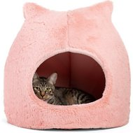 Best Friends by Sheri Meow Hut Covered Cat & Dog Bed