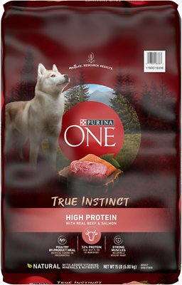 Purina ONE SmartBlend True Instinct High Protein Beef & Salmon Adult Dry Dog Food