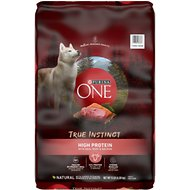 Purina ONE SmartBlend True Instinct High Protein Beef & Salmon Adult Dry Dog Food, 15-lb bag