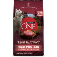 Purina ONE SmartBlend True Instinct High Protein Beef & Salmon Formula Dry Dog Food, 27.5-lb bag