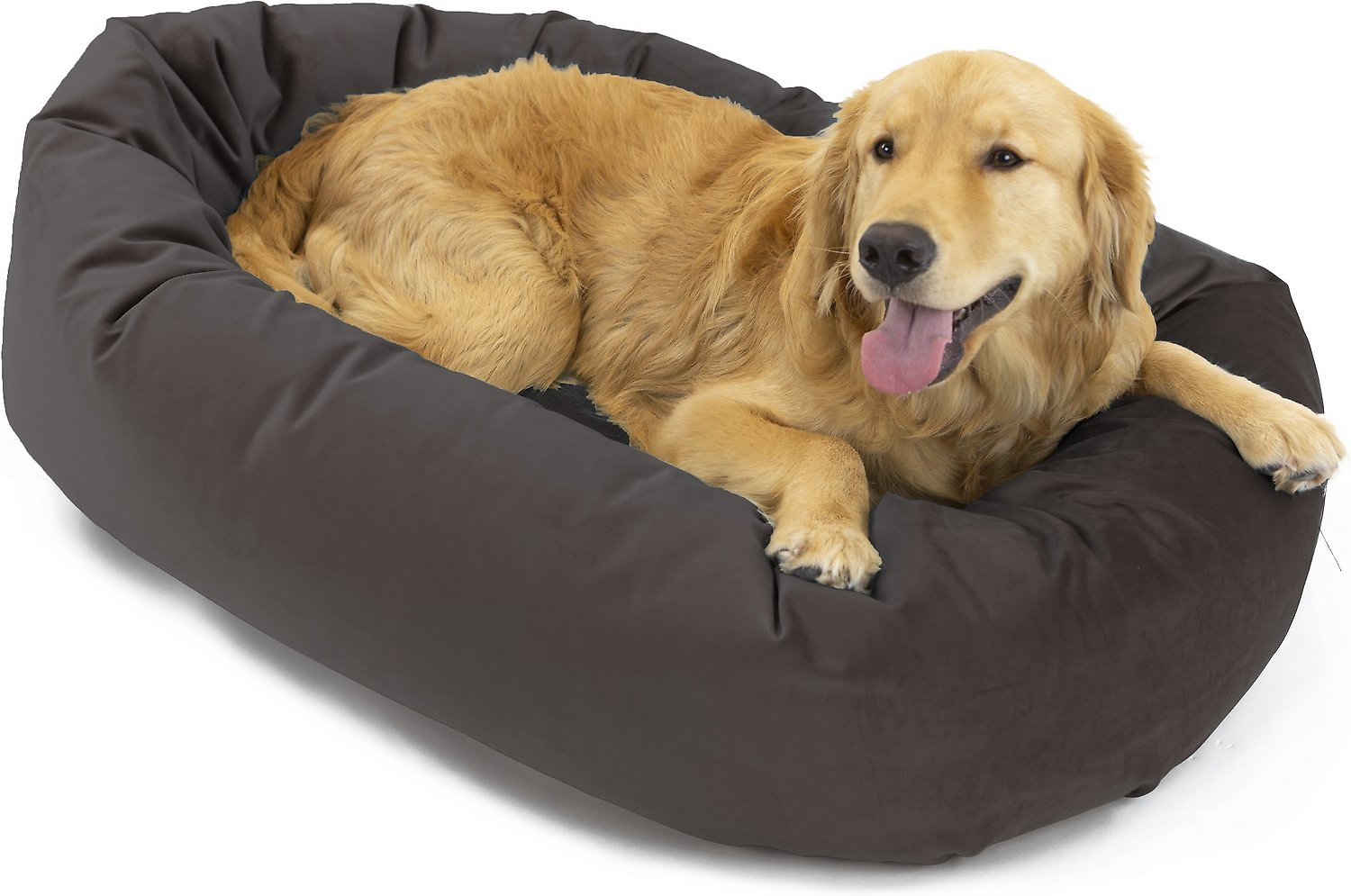 Awe Inspiring Majestic Pet Velvet Bagel Dog Bed Coal Large Chewy Com Machost Co Dining Chair Design Ideas Machostcouk