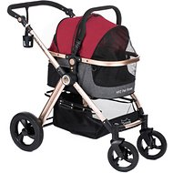 HPZ Pet Rover Luxury Carrier, Car Seat & Pet Stroller, Ruby Red