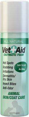 Vet Aid Enzymatic Wound Care Pet Foam, 2-oz bottle