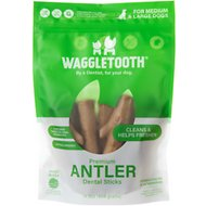 Waggletooth Premium Antler Sticks Grain-Free Dental Dog Treats