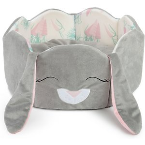 Best Friends By Sheri Bunny Cuddler Bolster Cat & Dog Bed, Gray