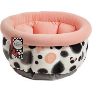 Best Friends by Sheri Disney Minnie Mouse Cuddle Cup Bolster Cat & Dog Bed, Coral