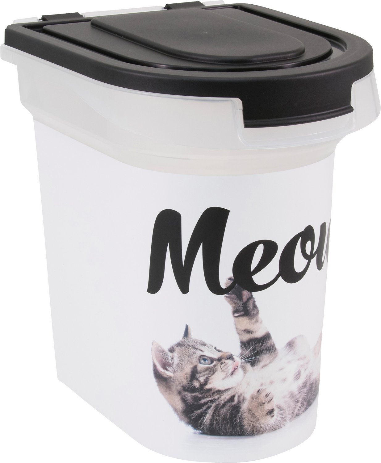 Paw Prints Meow Kitty Pet Food Storage Container 15 Lb Chewy Com