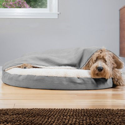 6. Furhaven Therapeutic Heated Cat Bed
