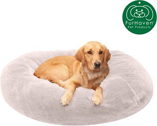 Fantastic Furhaven Plush Ball Dog Bed Gray Mist Small Theyellowbook Wood Chair Design Ideas Theyellowbookinfo