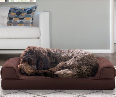 Stupendous Furhaven Quilted Cooling Gel Top Sofa Pet Bed Coffee Medium Bralicious Painted Fabric Chair Ideas Braliciousco