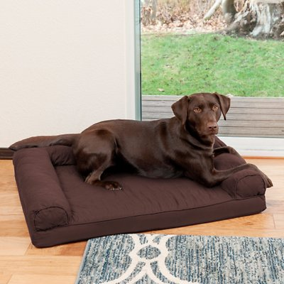 FurHaven Quilted Orthopedic Sofa Cat & Dog Bed w/ Removable Cover