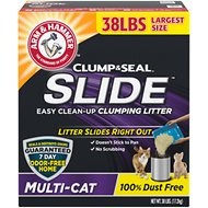 Arm & Hammer Litter Slide Multi-Cat Scented Clumping Clay Cat Litter, 38-lb box