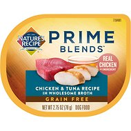 Nature's Recipe Prime Blends Grain-Free Chicken & Tuna in Broth Recipe Wet Dog Food, 2.75-oz tray, case of 12