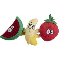 GoDog Play With Your Fruit Chew Guard Squeaky Plush Dog Toy