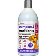 Petkin 4-in-1 Lavender Scent Dog & Cat Shampoo & Conditioner, 32-oz bottle