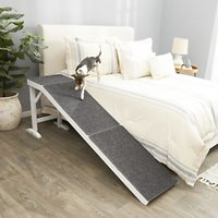 Deals on Frisco Deluxe Wood Carpeted Pet Ramp