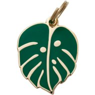 Two Tails Pet Company Monstera Leaf Pet ID Tag