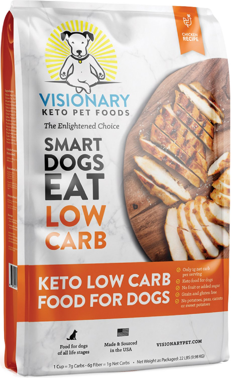 VISIONARY PET Grain Free Low Carb High Protein Dog Food