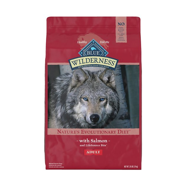 6. Blue Buffalo Wilderness Salmon Recipe Grain-Free Dry Dog Food